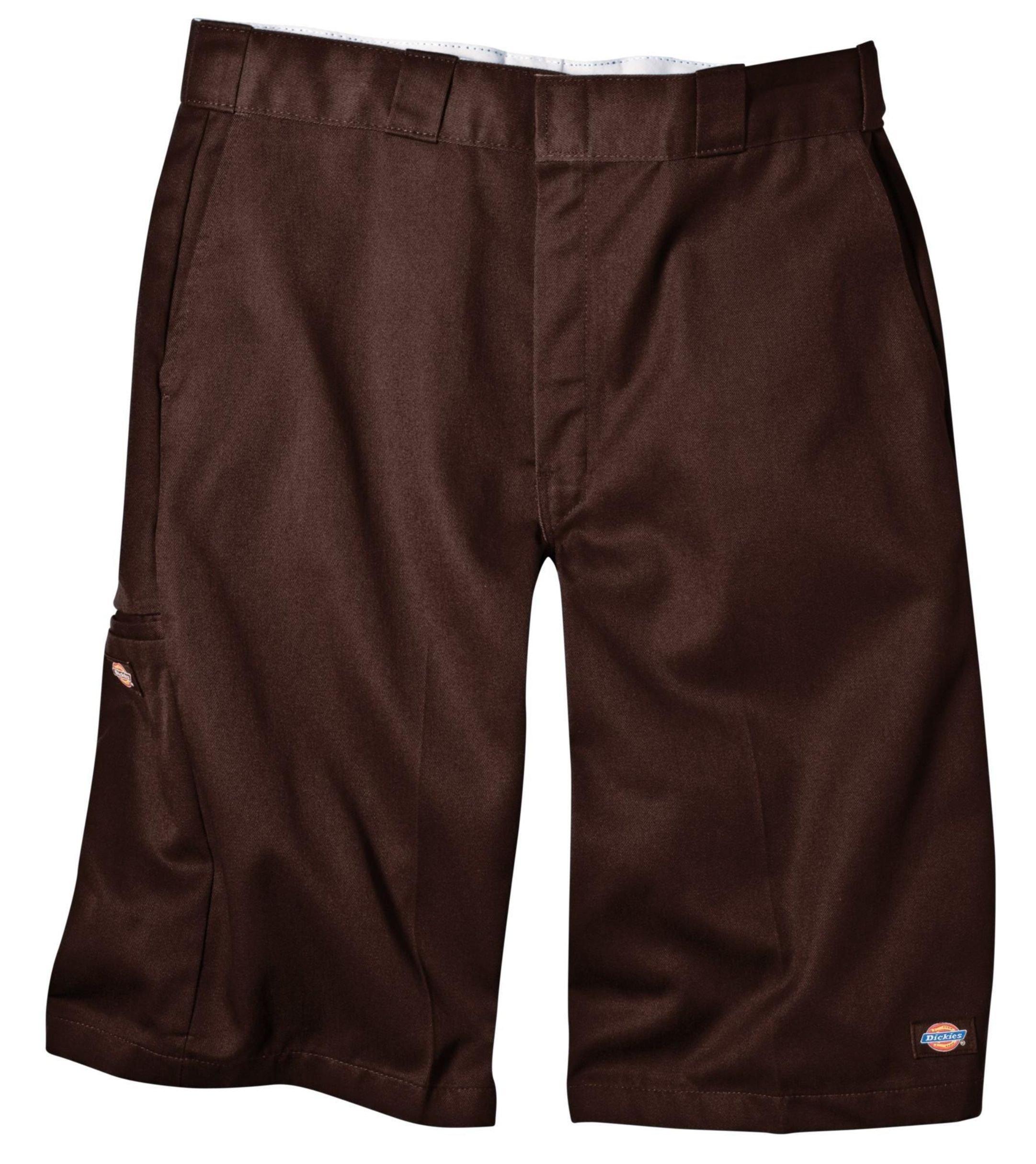 Dickies Men's 13 Inch Loose Fit Multi-Pocket Work Short, Dark Brown, 40