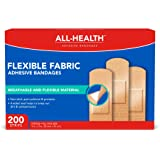 All Health Flexible Fabric Adhesive Bandages, 1 in x 3 in | Flexible Protection for First Aid and Wound Care, One Size…
