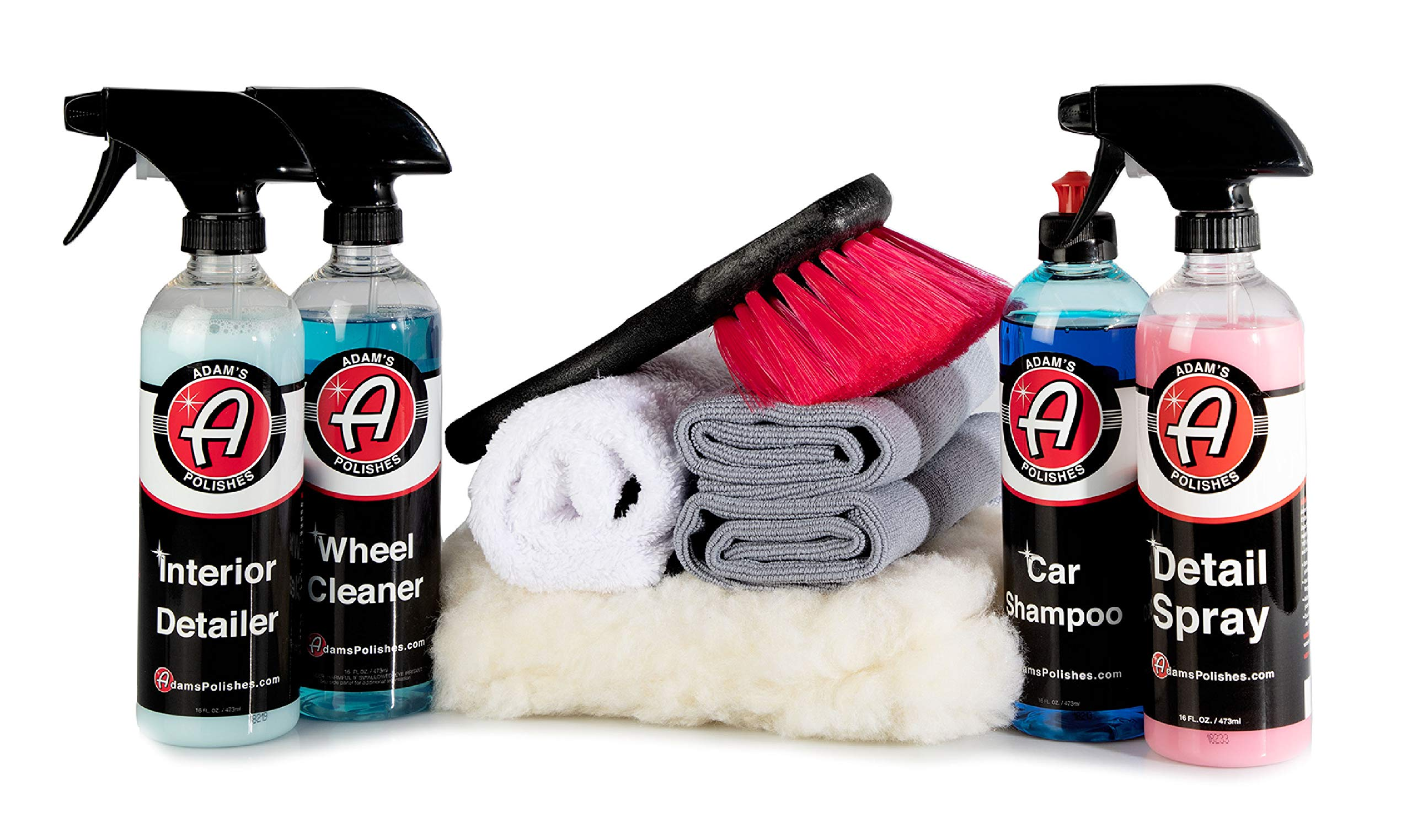 Adam's 16oz Most Popular Combo Detailing Kit - Our Top Selling Products Bundled with The Perfect Companion Products - Professionally Detail Your Entire Vehicle with Expert Designed Washing Tools by Adam's Polishes (Image #1)
