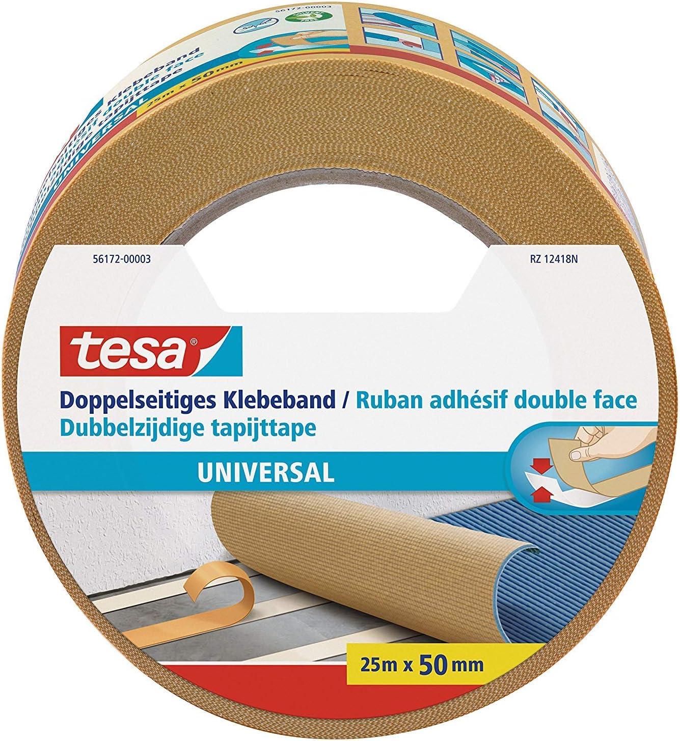 rouleau de 50 m ruban adh/ésif universel pour montage Tesa 4970 Ruban adh/ésif double face en PVC adh/ésif permanent fort fixation largeur s/électionnable