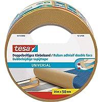 tesa Dubbelzijdige Tapijttape Universal - Multifunctionele vloertape, ook voor hobby's - Vloerbedekkingstape voor tapijt…