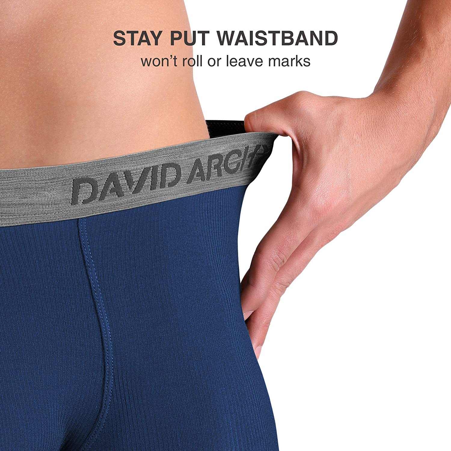 DAVID ARCHY Mens 3 Pack Luxury Micro Modal Underwear Breathable Ultra Soft Comfort Lightweight Boxer Briefs No Fly