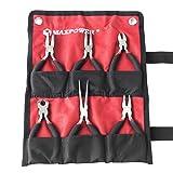 """MAXPOWER 4.5"""" 6pc Mini Pliers Set-Bent Nose Pliers, Long Nose Pliers, Combination Pliers, End Cutting Nipper, Needle Nose Pliers, Diagonal Pliers"""
