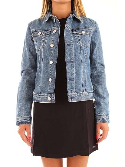 wholesale dealer 0ace0 08562 Calvin Klein Giubbino Jeans Donna Denim blu Medio: Amazon.co ...