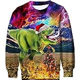 16c8e554e216 Funnycokid Kids Boys Girls Ugly Christmas Jumper 3D Print Long Sleeve Xmas  Elf Pullover Fleece Tshirt