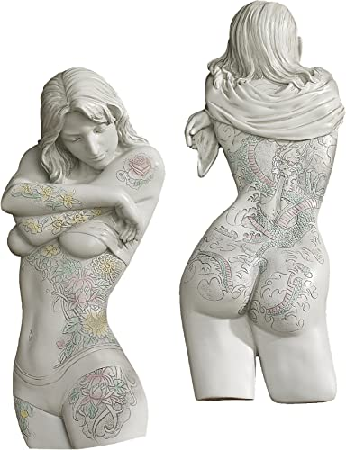 Design Toscano Tattoo Temptation Wall Sculpture Collection: Asian Beauty and Floral Seduction