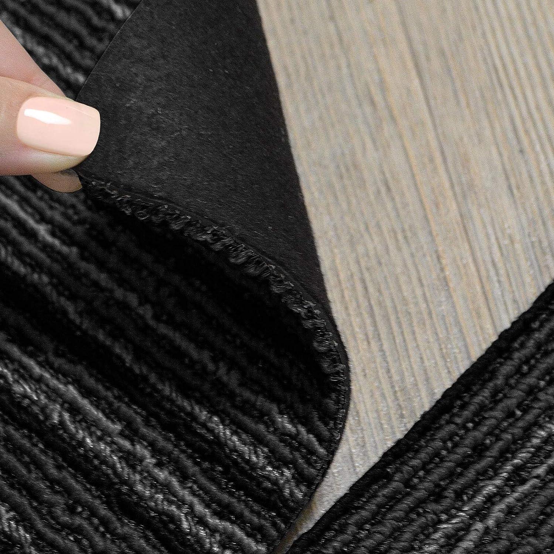 strapazierf/ähiger Teppich Bodenbelag mit hochwertigem Schlingenflor 1 m/² Set Design Teppichfliesen Venice 50x50 cm selbstliegend antistatisch mit Bitumen R/ücken Grau, 4 St/ück