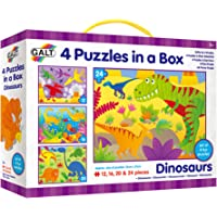 Galt Toys Dinosaurs 4 Puzzles in a Box