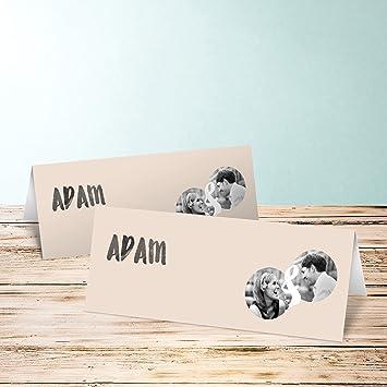 Tischkarten Goldene Hochzeit Verbundenheit 35 Karten