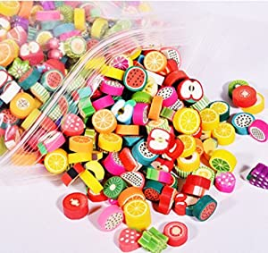 Xiaomei DIY Bracelet Beaded Crafts Jewelry Accessories Beads 10mm Mixed Fruit Color Fruit Handmade Jewelry Beads 100pcs