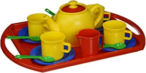 Dantoy - 4335 Plastic Tea Service for 4 Playset - 250623