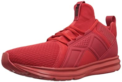 PUMA Men s Enzo Wide Sneaker high Risk red 10 ... 944f50282