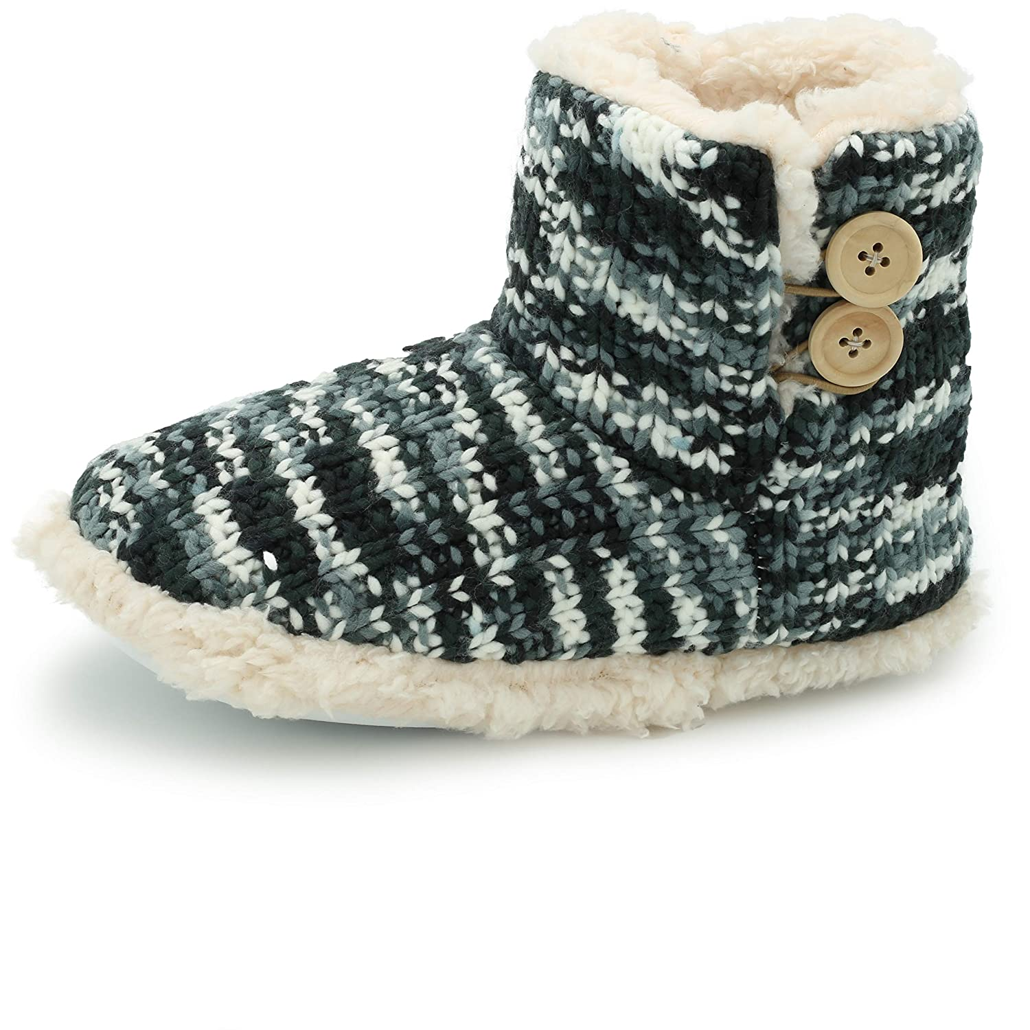 fd97d02dee3b1b Indoor Outdoor Slipper Boots for Women Warm Cosy Super Soft Scotty Dog  Velvet Knitted Womens Booties Gift  Amazon.co.uk  Shoes   Bags