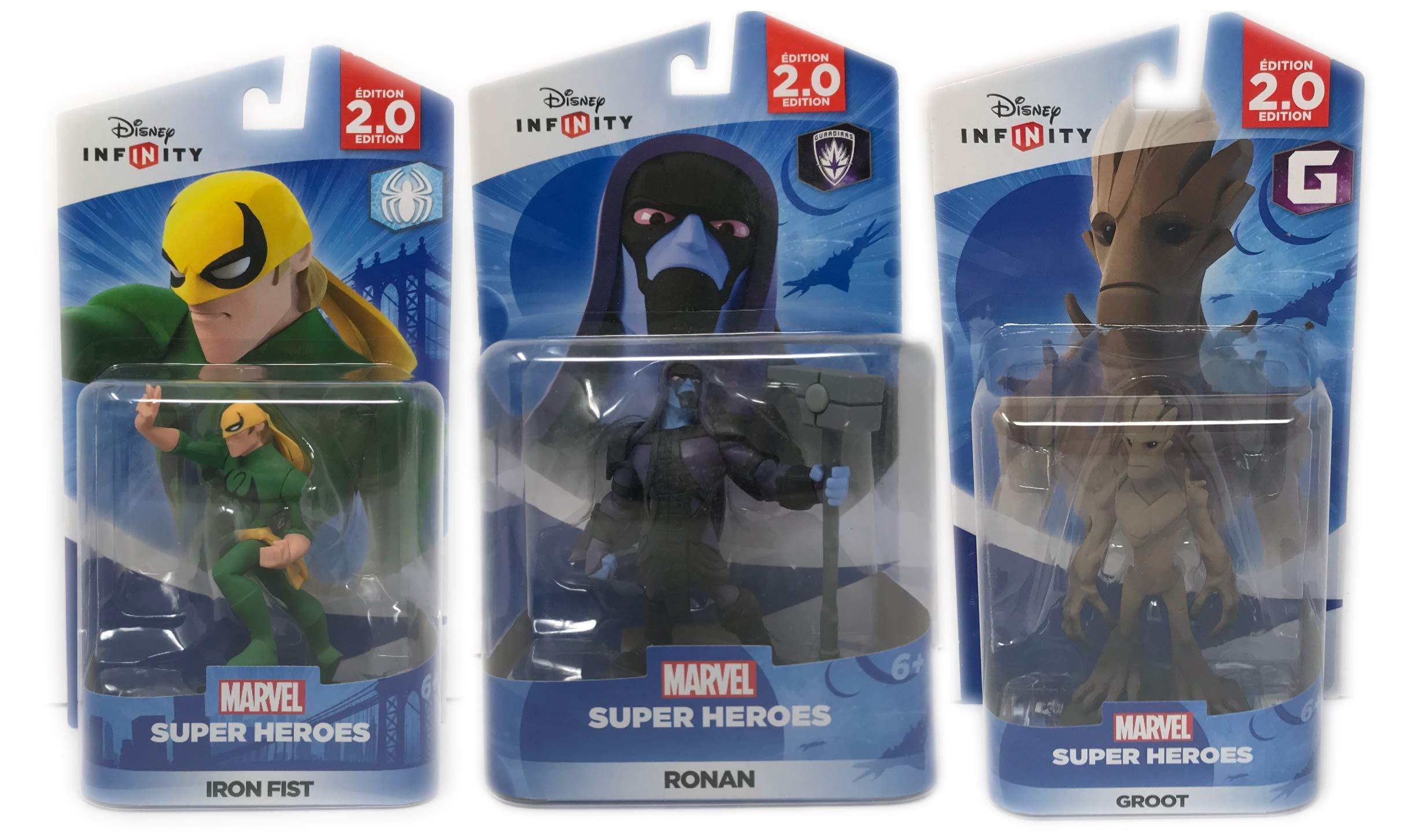 Disney Infinity: Heroes (2.0 Edition) Groot, Iron Fist & Ronan (2.0 Series) Guardians Of The Galaxy & Spider-Man Series - Not Machine Specific