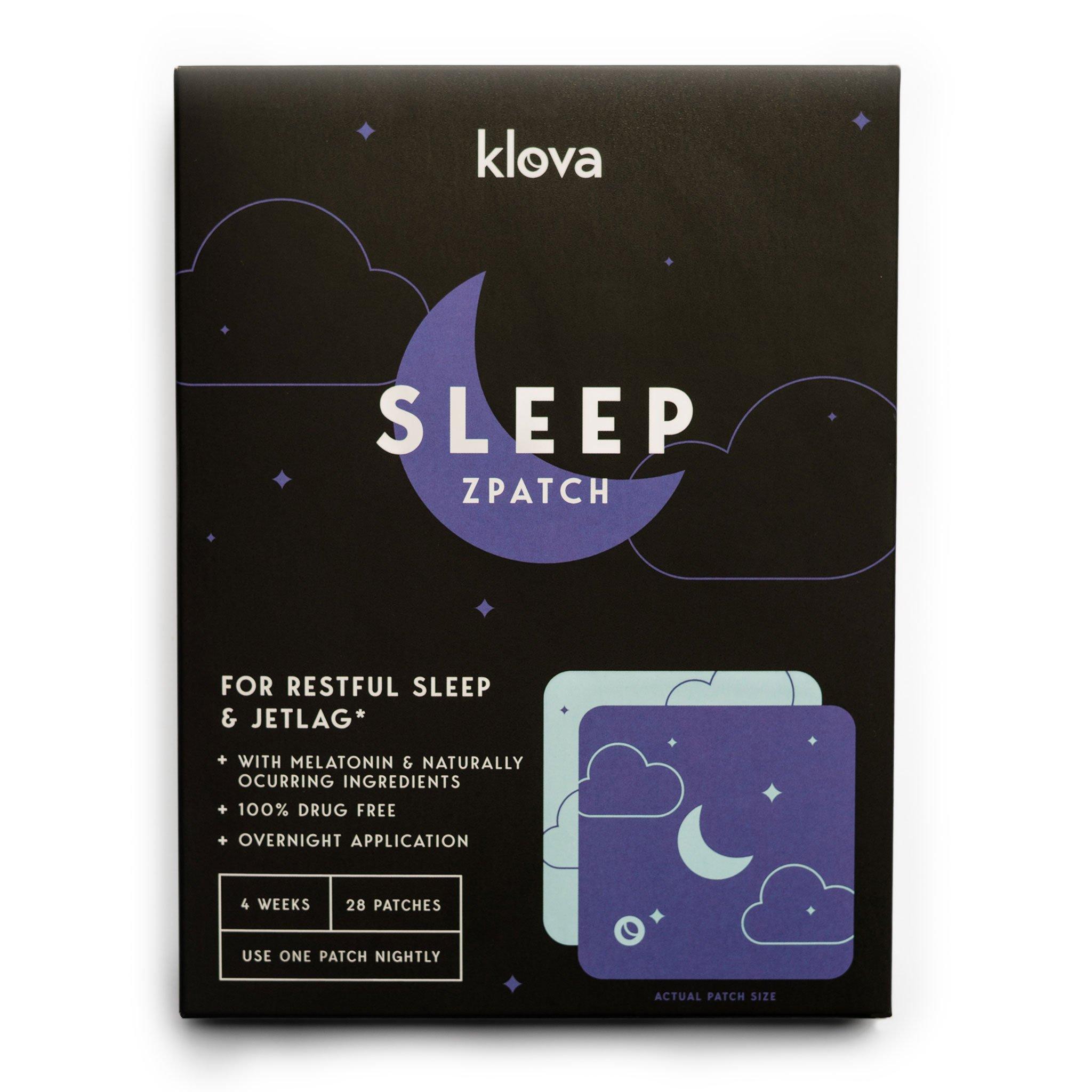 Klova Sleep Patch with Melatonin and Natural Ingredients Promotes restful Sleep and eliminates Jet lag