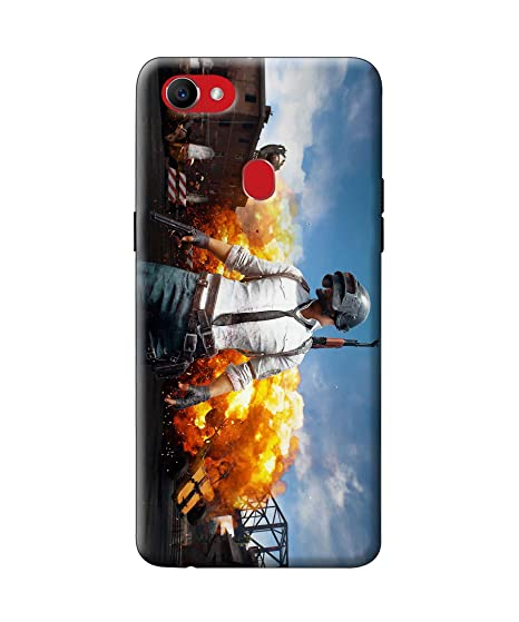 sports shoes e2fdb 5ff52 Casekaro Pubg Player Printed Cover for Oppo F7 | Hard: Amazon.in ...