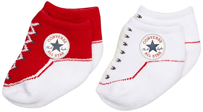 6f07f6702e8179 Converse Unisex Baby 2 Pack Booties Plain Socks