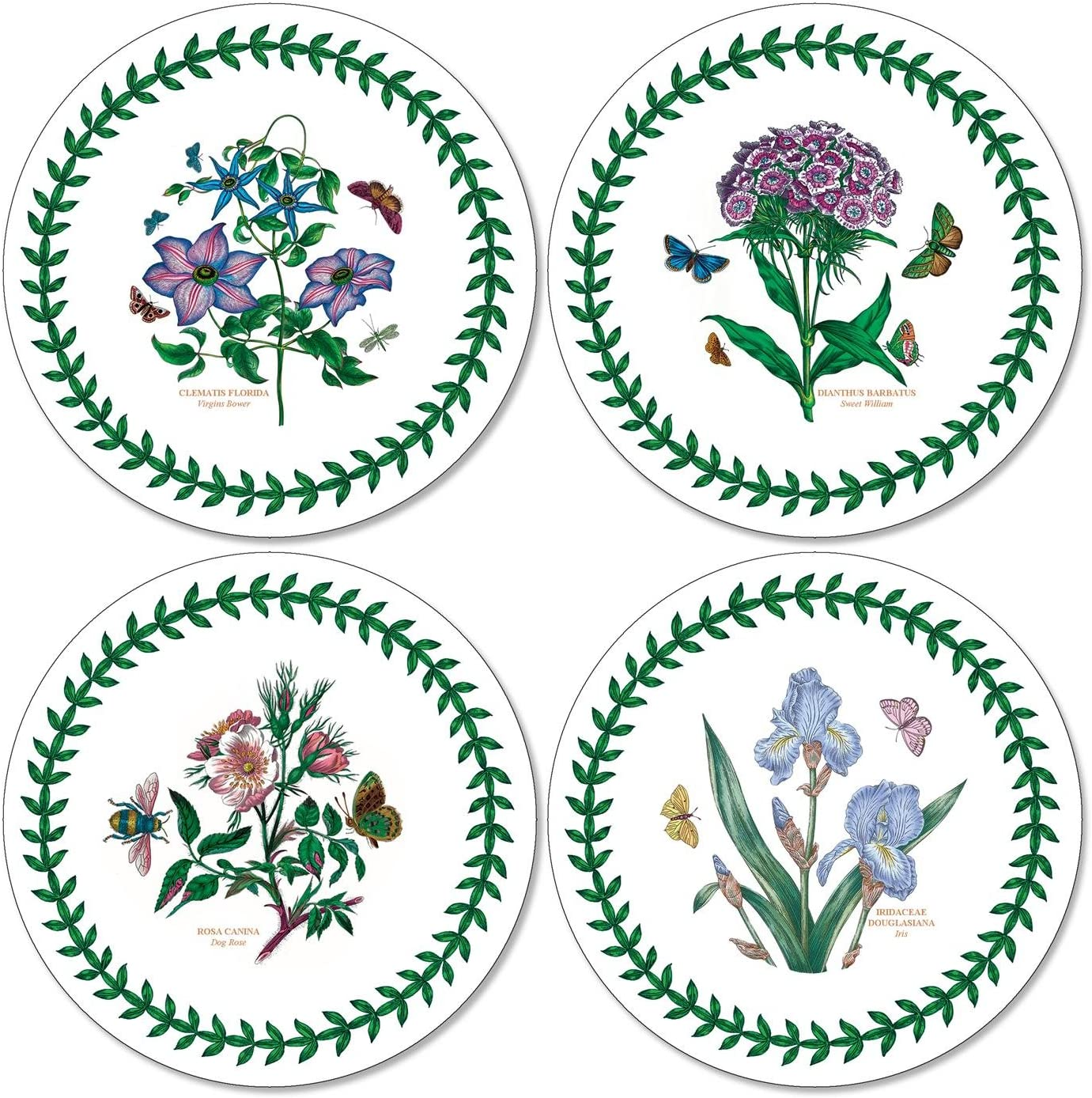 Portmeirion Home & Gifts Botanic Garden Round Coasters S/4 (m), Fabric, Multi-Coloured