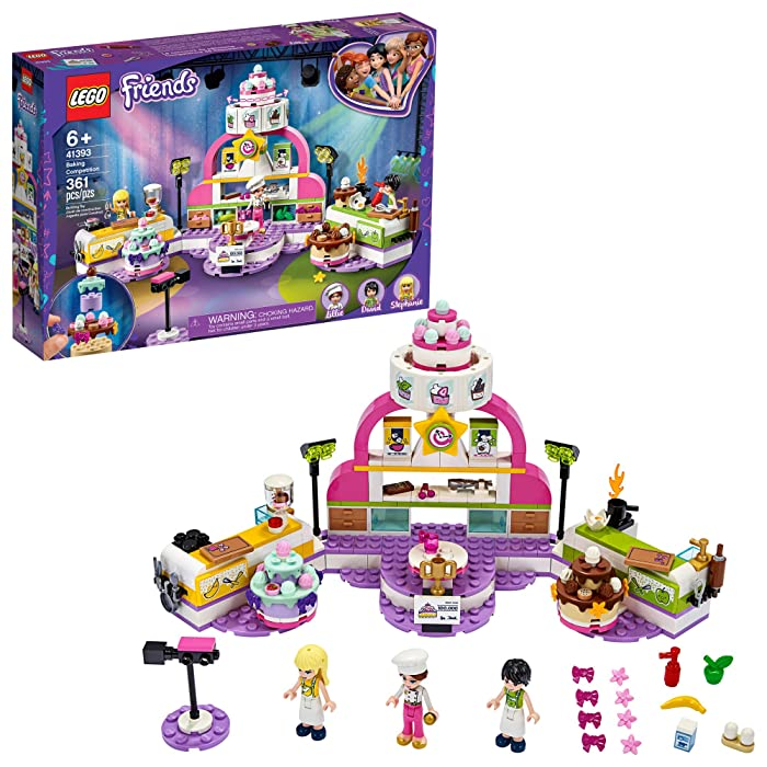 LEGO Friends Baking Competition 41393 Building Kit, Set Baking Toy, Featuring 3 Friends Characters and Toy Cakes, New 2020 (361 Pieces)