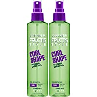 Garnier Fructis Style Curl Shape Defining Spray Gel, Curly, 8.5 Fl Oz, Pack of 2 (Packaging May Vary)