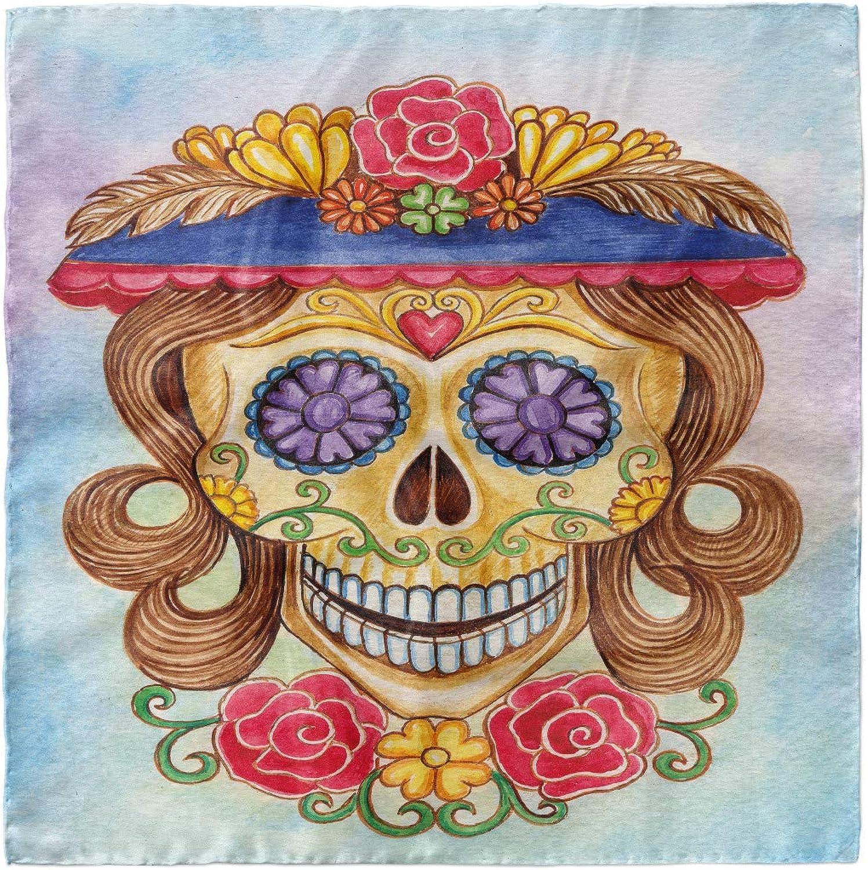 Spanish Mexican Ambesonne Skull Head Scarf Hair Wrap