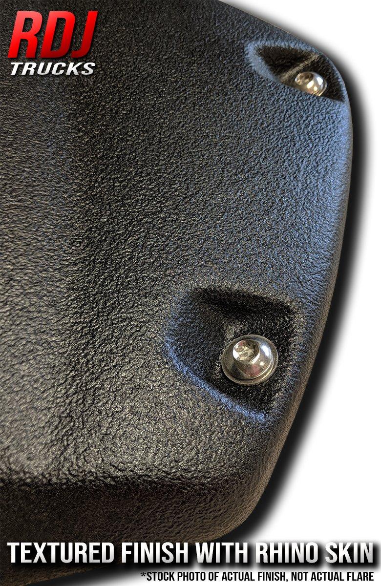 Set of 4 RDJ Trucks PRO-Offroad Bolt-On Style Fender Flares Smooth Paintable OE Black Finish Fits Tundra 2007-2013