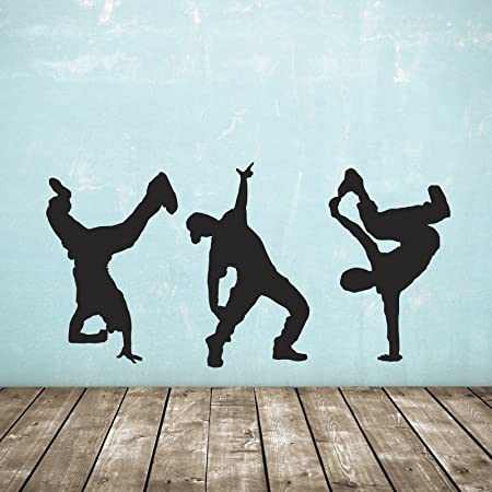 Street Dance Wall Stickers   Pack Of 3   Hip Hop Dancer Decals