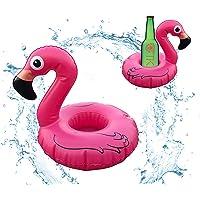 TK Gruppe Timo Klingler 1x Getränkehalter aufblasbar Luftmatratze Schwimmring Schwimmreif für Pool, Wasser, Cocktailhalter, Bierhalter, Becher, Dosenhalter, Becherhalter Bier (1x Flamingo)