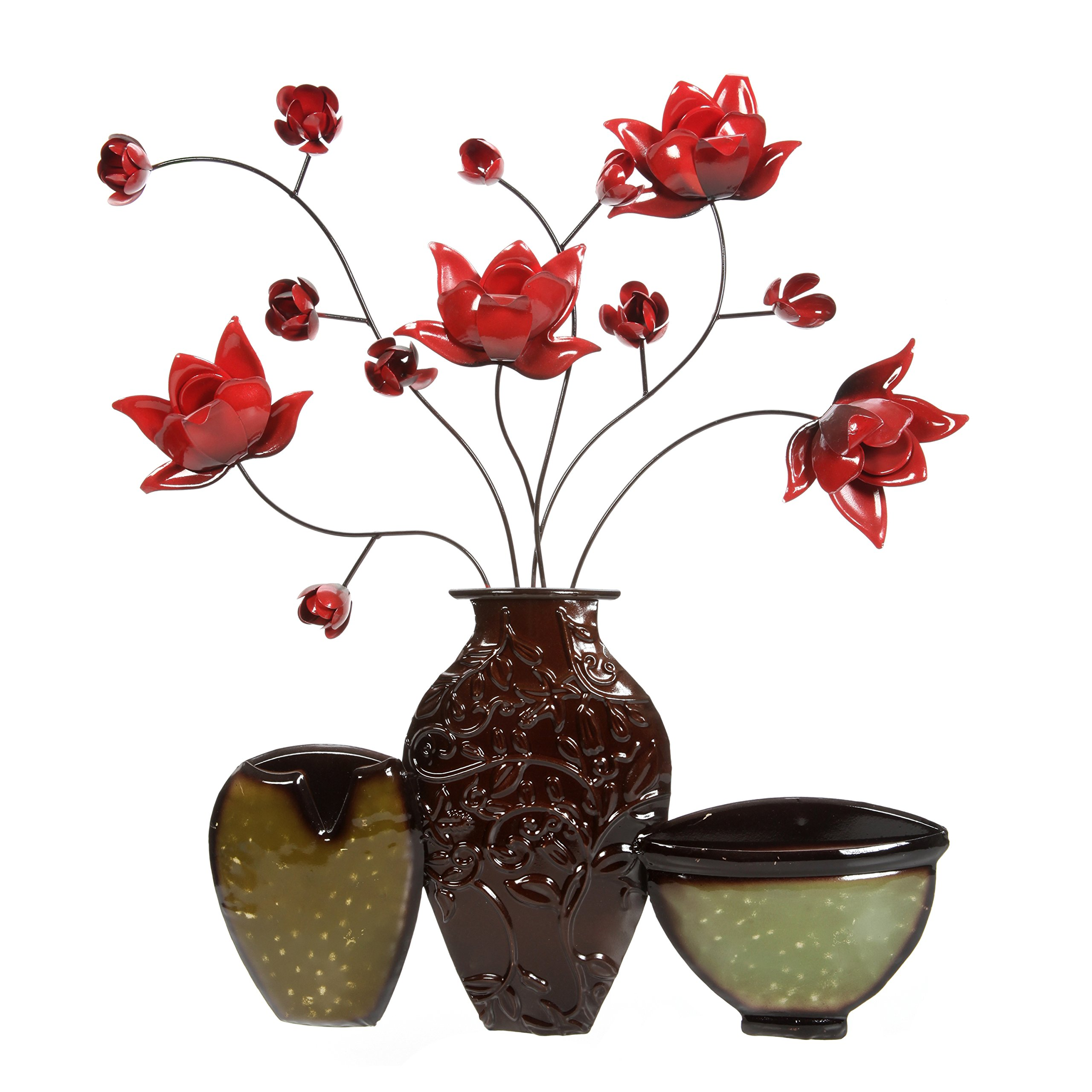 Hosley Metal Dimensional Wall Art-Vase, 23.25'' High. Ideal Gift for Wedding, Party, Spa, Home, Gardens P1