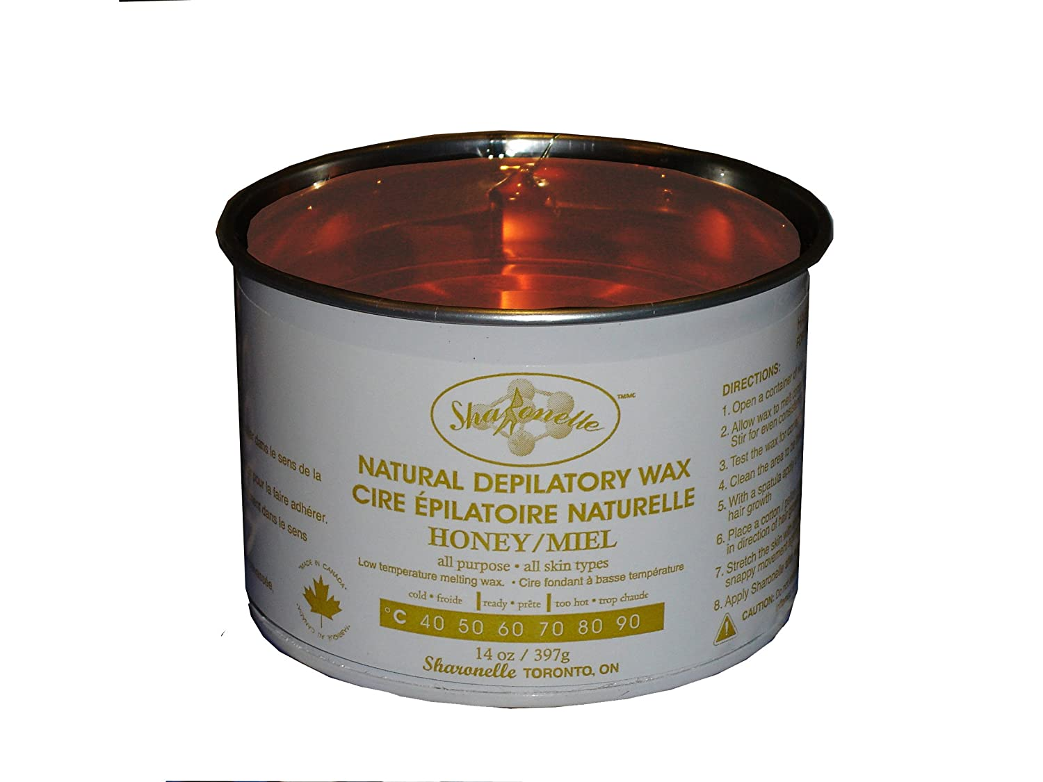 Sharonelle Natural Depilatory Wax Honey 14oz.