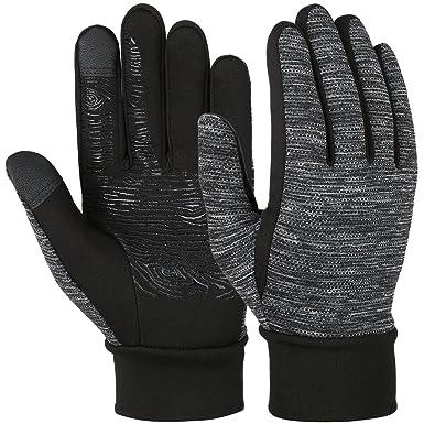 c06413c1c97788 Vbiger Herren Touchscreen Fahrhandschuhe SMS Handschuhe für Frühling Herbst  Winter, Gr.-S,