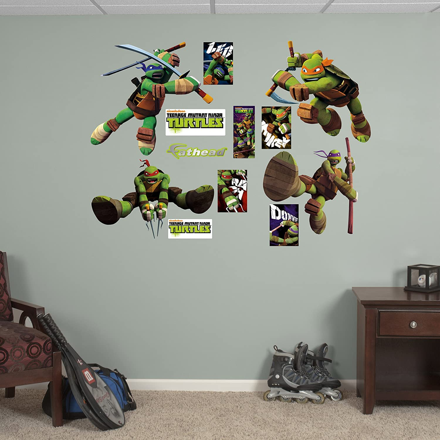 Amazon fathead teenage mutant ninja turtles collection amazon fathead teenage mutant ninja turtles collection graphic wall dcor home kitchen amipublicfo Image collections