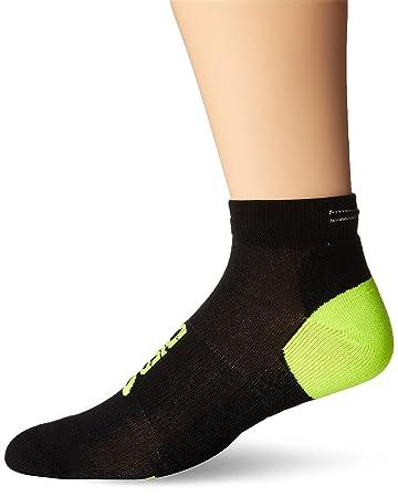 ASICS Lite-Show Nimbus Low Socks, Black/Neon, Small