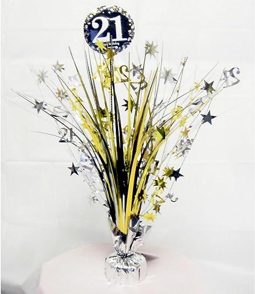 amscan - Centro de Mesa Llamativo para Fiesta 21 cumpleaños ...