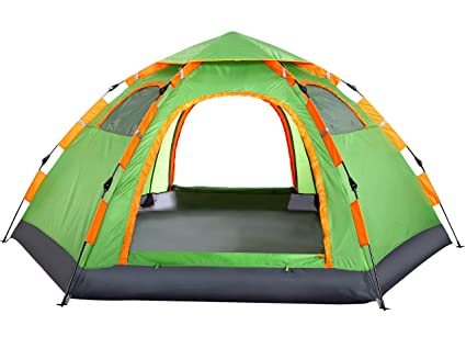 b46784048 Wnnideo 3-4 Person Camping Tent Backpacking Tents Hexagon Sun Dome  Automatic Pop-Up