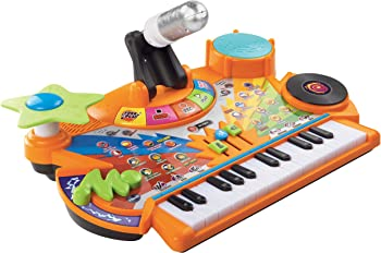 VTech Record & Learn Orange Toy Piano For Kids