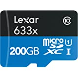 Lexar High-Performance microSDXC 200GB 633倍速 95MB/秒 UHS-I/U1 Class 10/USB 3.0 カードリーダー付 LSDMI200BBNL633R [並行輸入品]