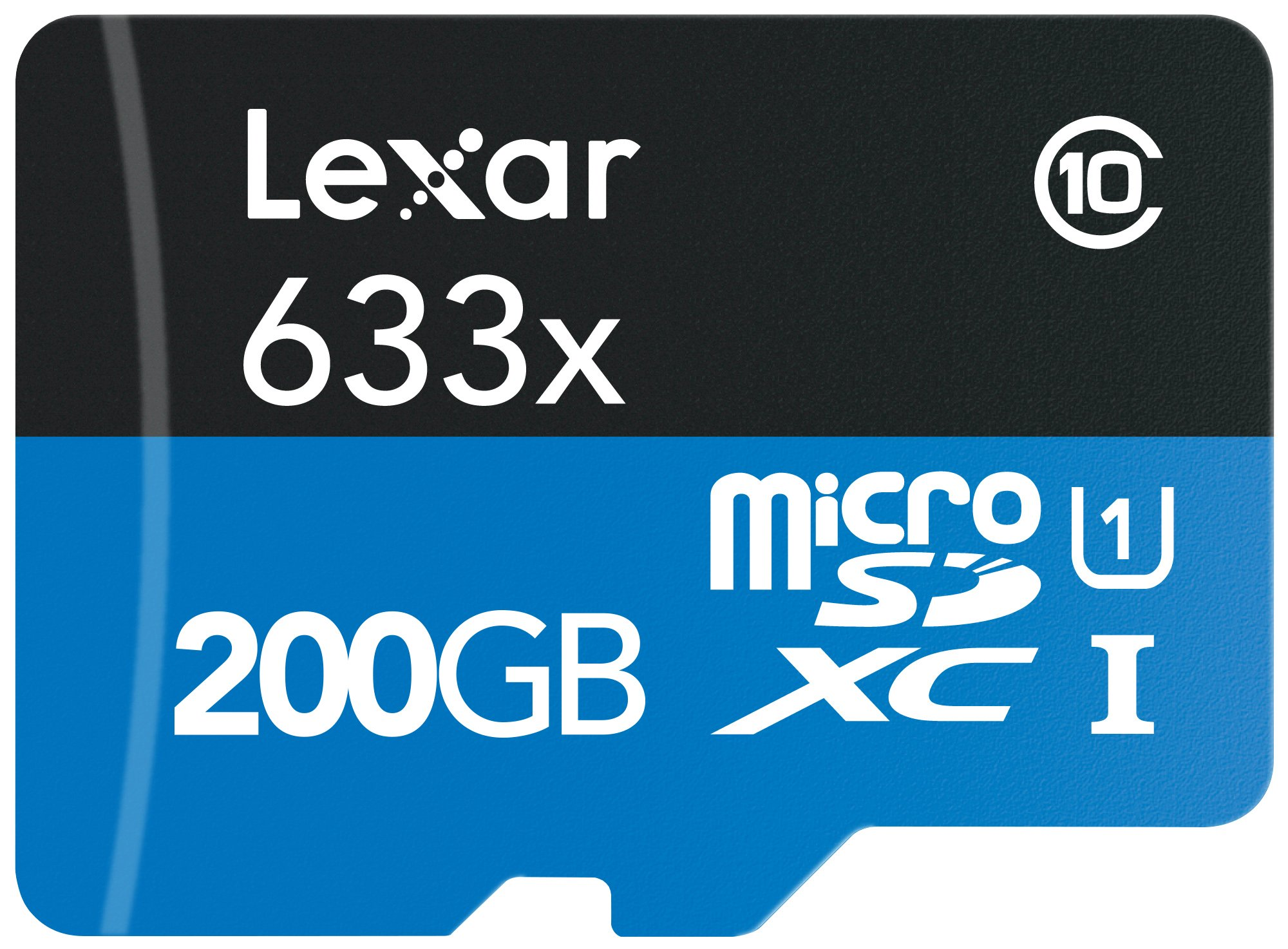 Lexar High-Performance microSDXC 633x 200GB UHS-I w/USB 3.0 Reader Flash Memory Card  - LSDMI200BBNL633R