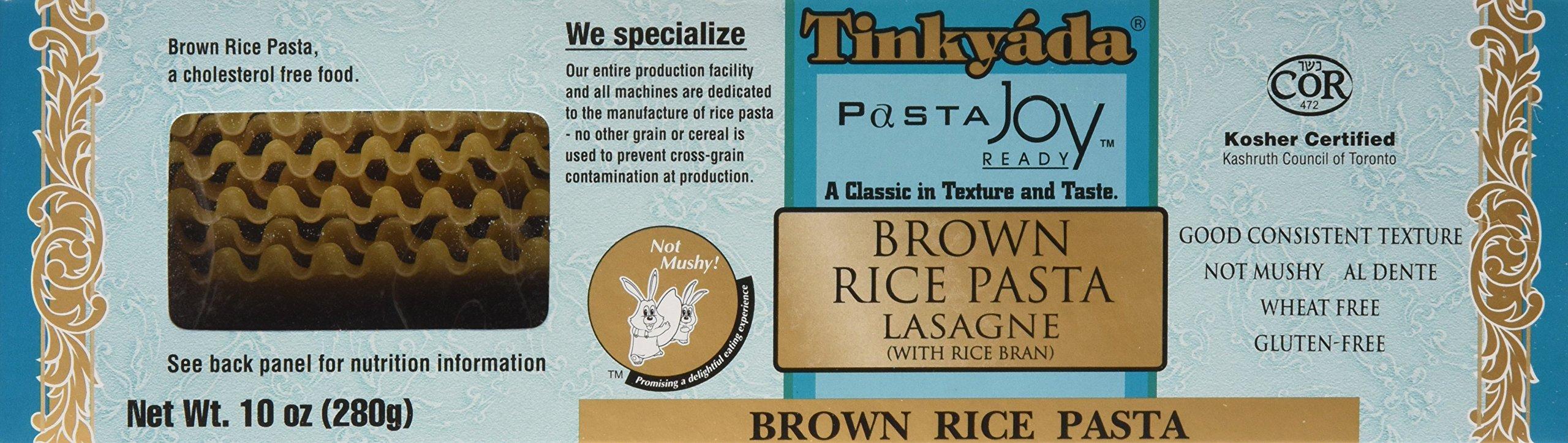 Tinkyada Brown Rice Pasta, Lasagne, 10 Ounce (Pack of 12) by Tinkyada