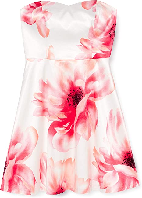 S Oliver Black Label Damen Kleid 29705826540 Mehrfarbig Weiss Koralle 01b1 42 Amazon De Bekleidung