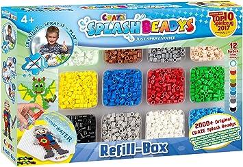 CRAZE- Cuentas de fusibles Fuse Beads Splash BEADYS Caja de Recarga Juego de Recambio de Perlas para niños 10006, Multicolor , color/modelo surtido: Amazon.es: Juguetes y juegos