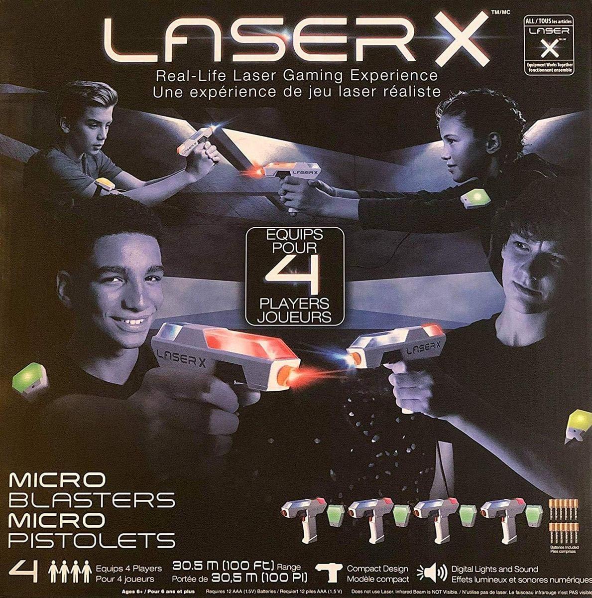Laser X Micro Blasters 4-Pack Laser Gaming