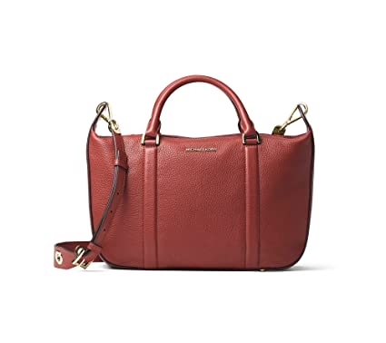 ce78917e48f8 Image Unavailable. Image not available for. Color: Michael Kors Raven Large  Satchel in Brick