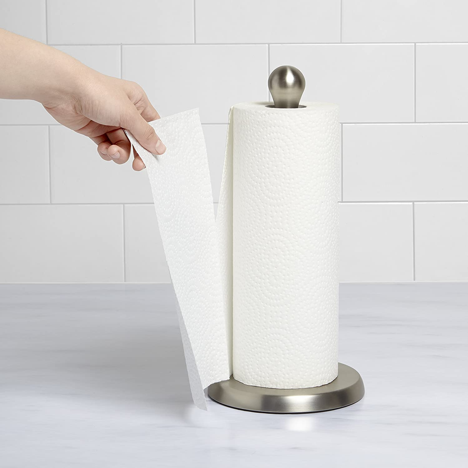 umbra tug modern stand up paper towel holder easy