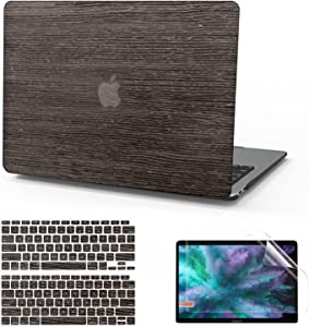 Anban Compatible with MacBook Air 13 Inch Case 2020 2019 2018 Release A2337 M1 A2179 A1932, Wood Laptop Hard Shell Case with Keyboard & Screen Protector with Retina & Touch ID,MacBook Air 2020 M1 Case