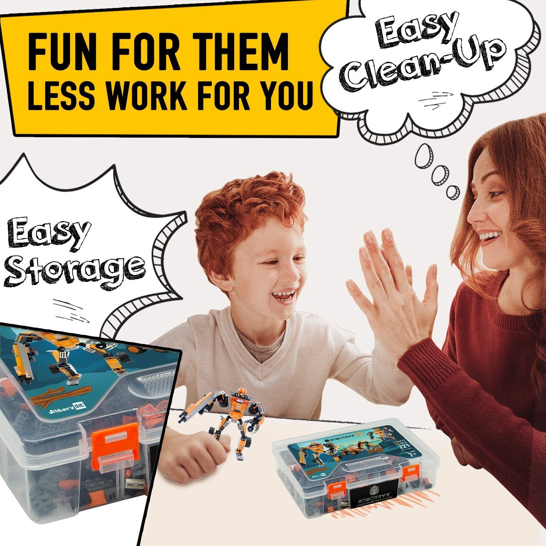 JITTERYGIT Juguete Robot Stem | Divertido Juego Creativo 3 en 1 | Juguetes de construcción para niños de 6-14 años de Edad | El Mejor Juguete de Regalo para niños | Kit