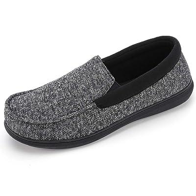 RockDove Men's Moc Slipper with SILVADUR Anti-Odor Fabric   Slippers