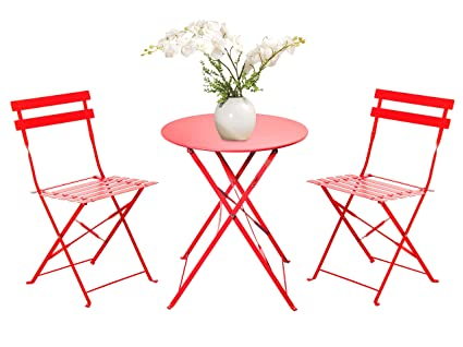 c289c83ac31d Image Unavailable. Image not available for. Color: Grand Patio 3-Piece  Folding Outdoor Bistro Sets ...