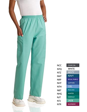 04ad4381e5c Image Unavailable. Image not available for. Color: Medline 674NHTMM AngelStat  Unisex Elastic Waist Cargo Scrub Pants ...