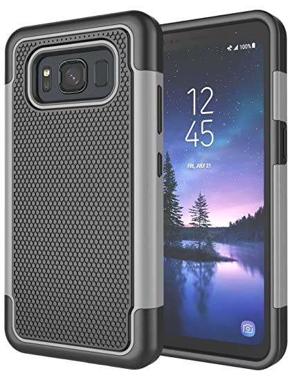 big sale 2e6b5 518ed Galaxy S8 Active Case, S8 Active Cover, Jeylly [Shock Proof] Rubber Plastic  Scratch Resistant Defender Bumper Rugged Hard Outer Cases Cover for AT&T ...